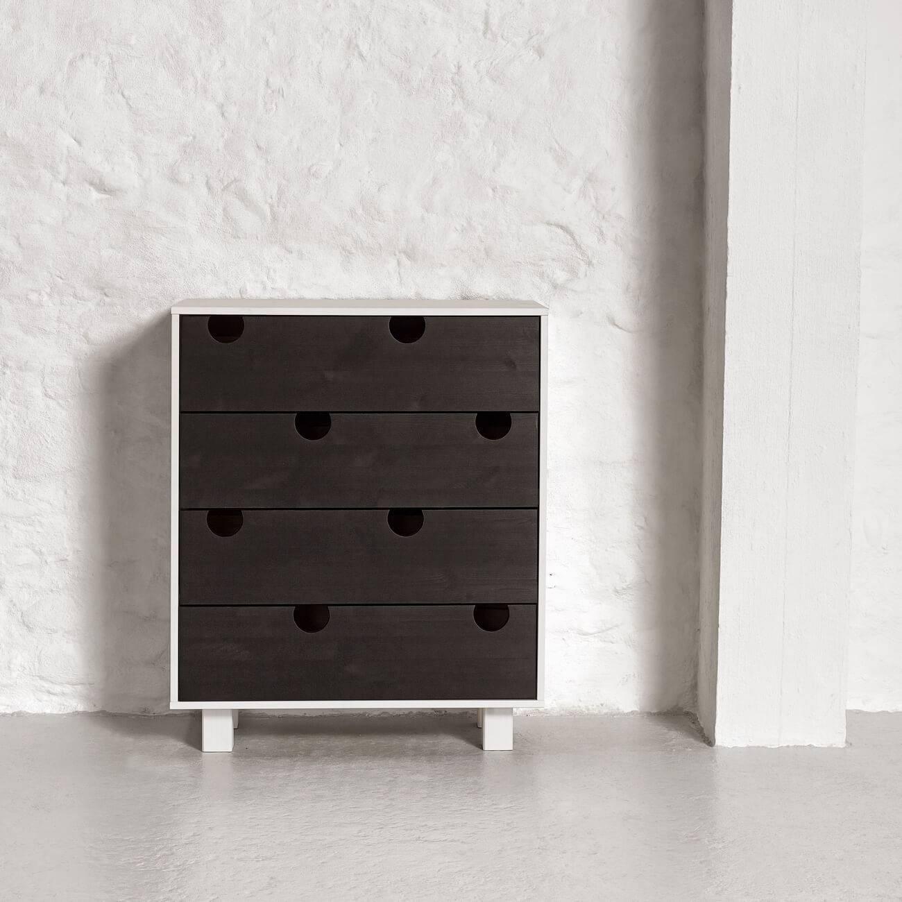 Karup ladekast House 4 wit / zwart
