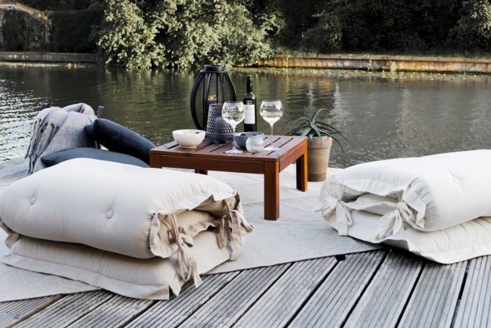 tuin lounge fauteuil sit en sleep
