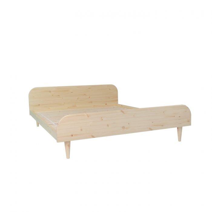 houten tweepersoonsbed