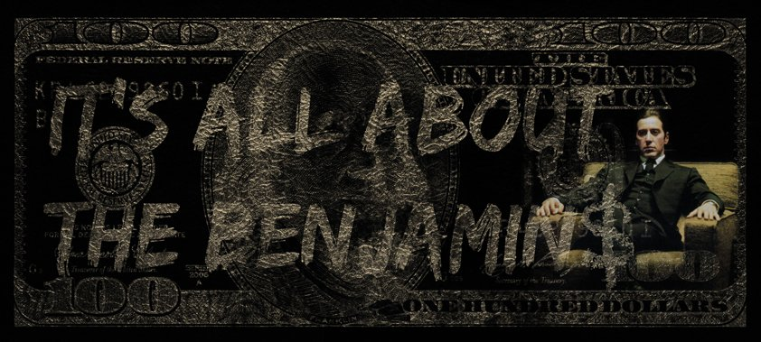 All About The Benjamin$ Gold Money Aluart