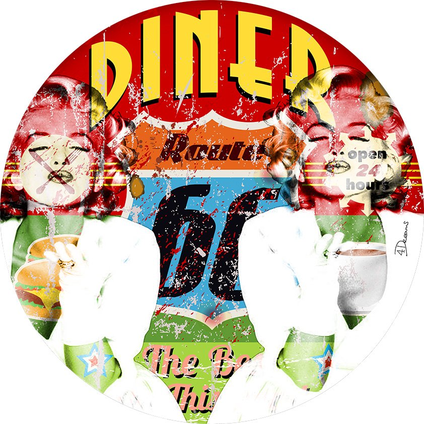 Diner Route 66 with Model Aluart