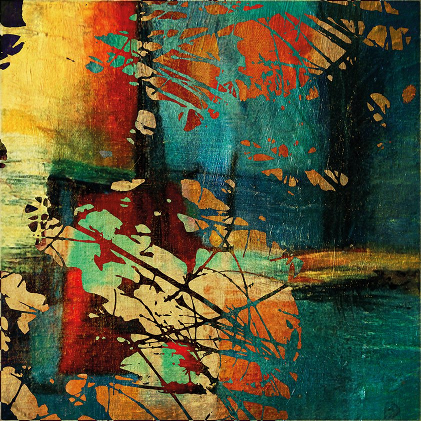 Autumn Messy color Abstract Aluart