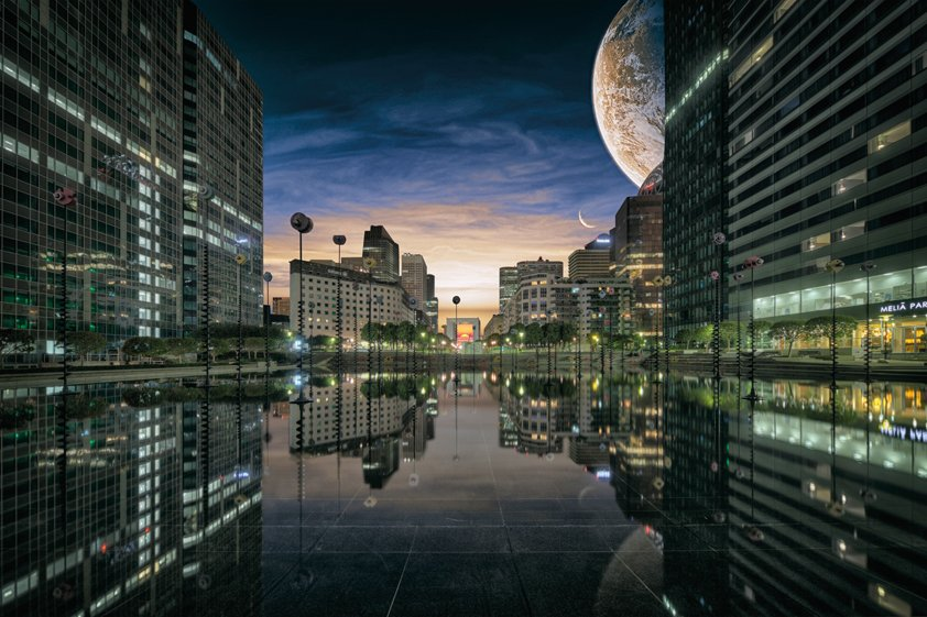 Paris in Reflection by Night Aluart