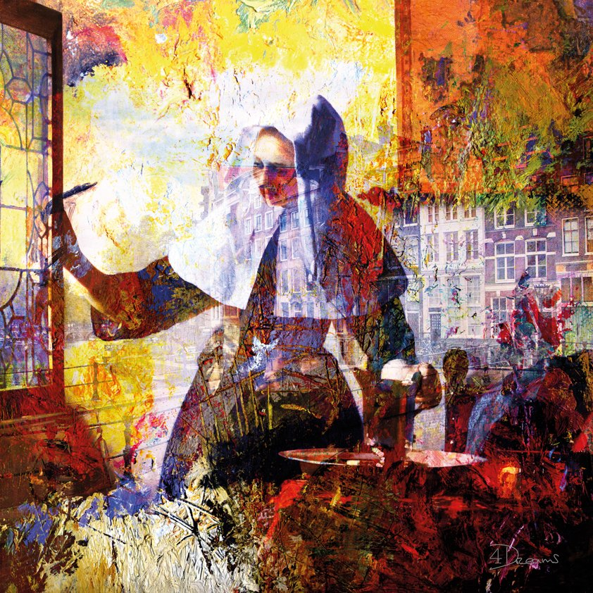 Abstract Woman with Water jug Amsterdam Aluart
