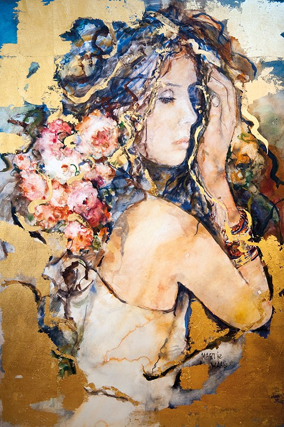 Abstract woman in Flowers Aluart