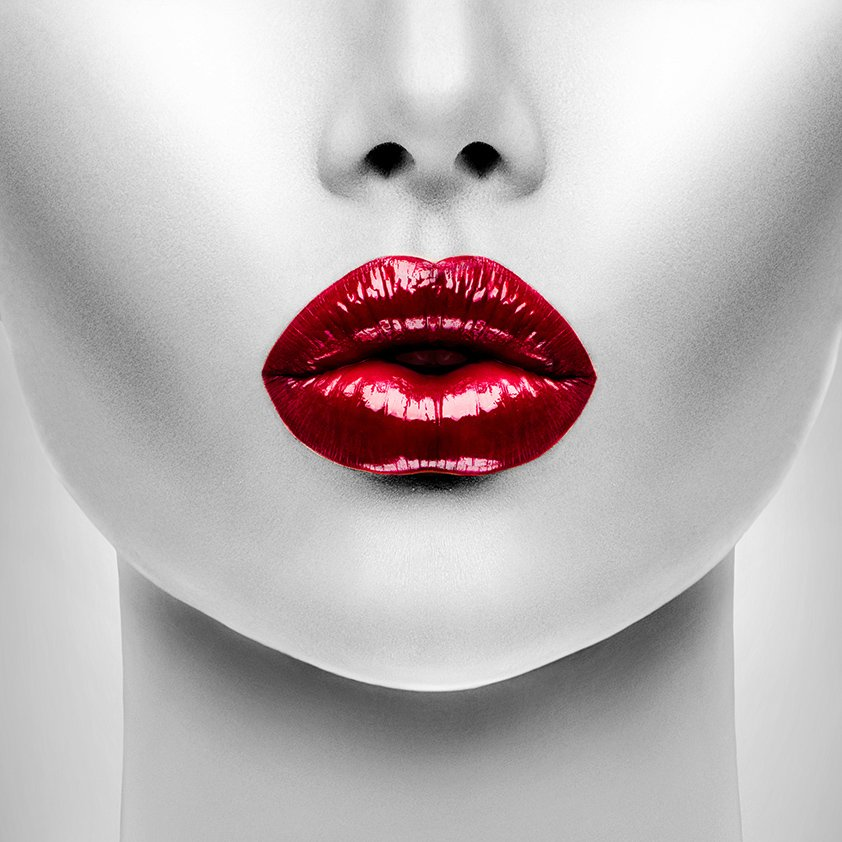 Woman with Red Lips Aluart