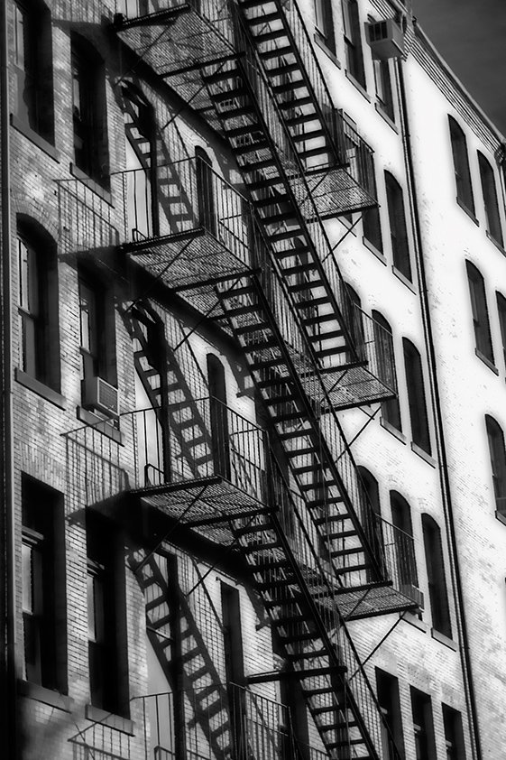 Typical New York Facade fire Stairs Aluart