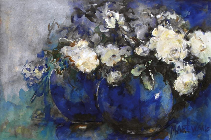 Abstract white Flowers Aluart