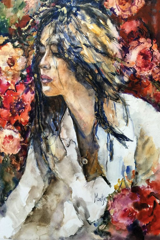 Abstract Women in Roses Aluart