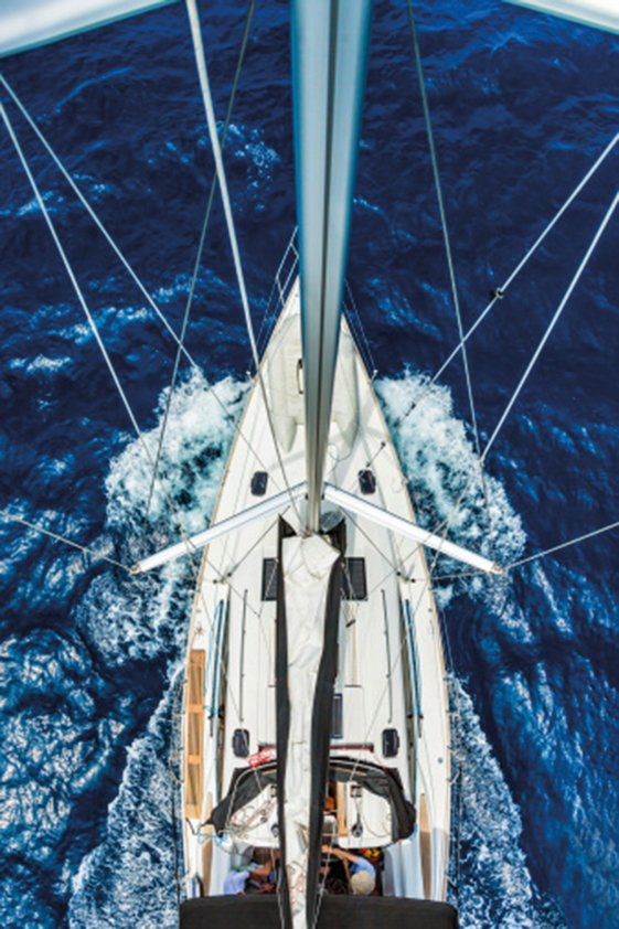 Sailboat from Above Aluart