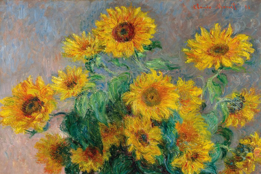Abstract Sunflowers in Aluart