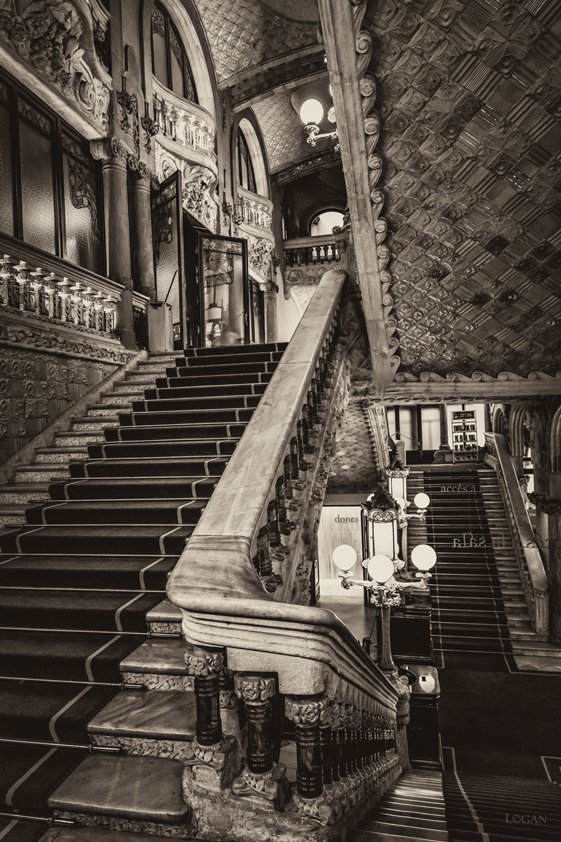 Antique Stairs in Palace Aluart