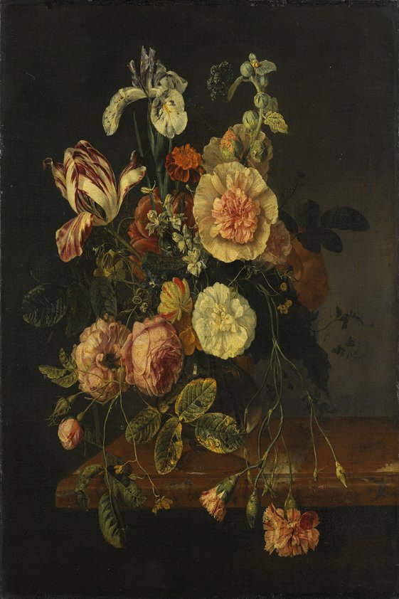 Colorful Flowers in Darkness Aluart