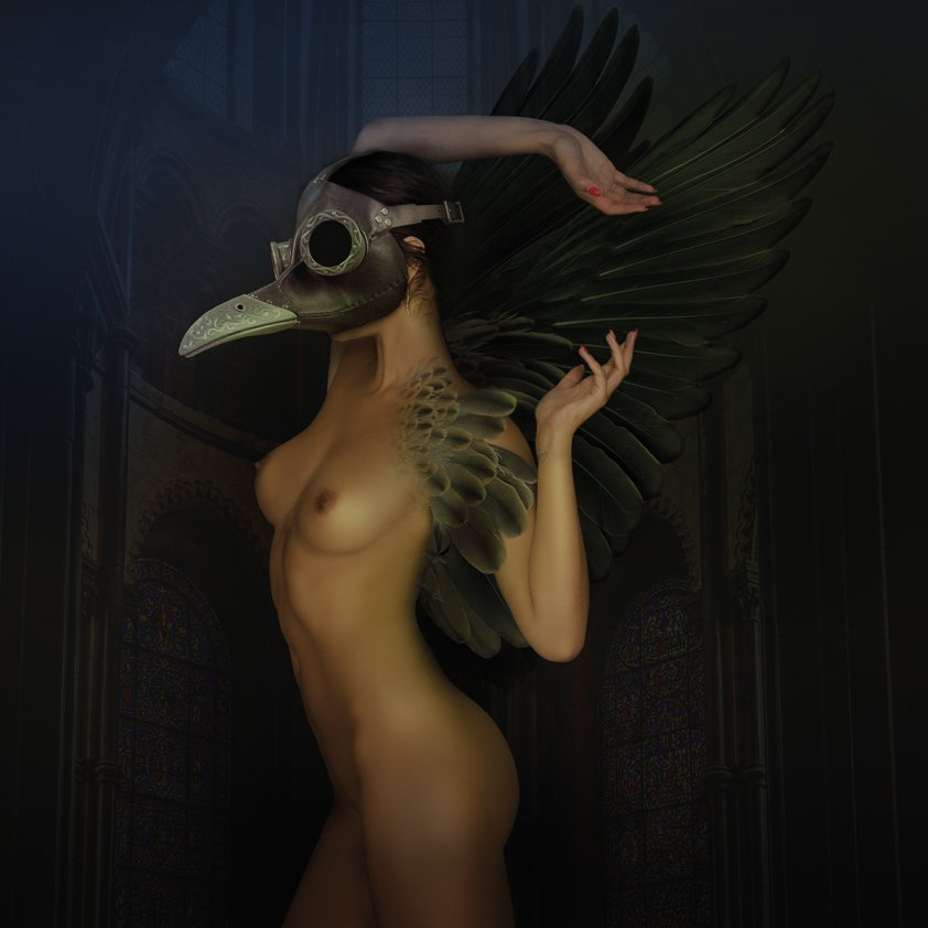 Naked Woman With Mask Aluart