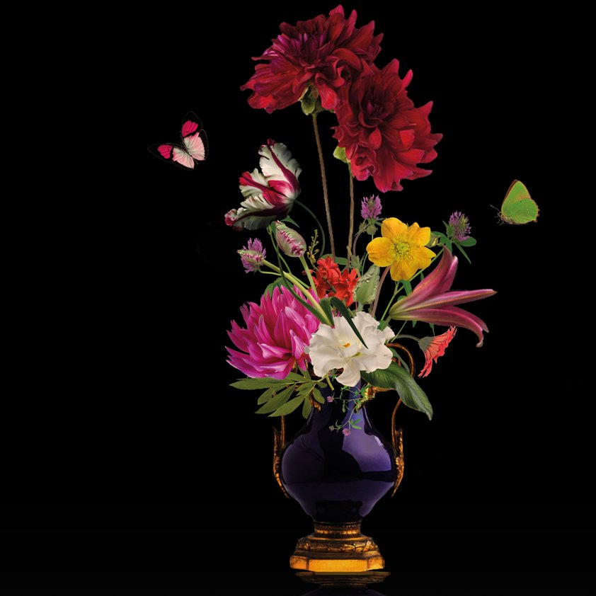 Flower vase with Butterfly Aluart