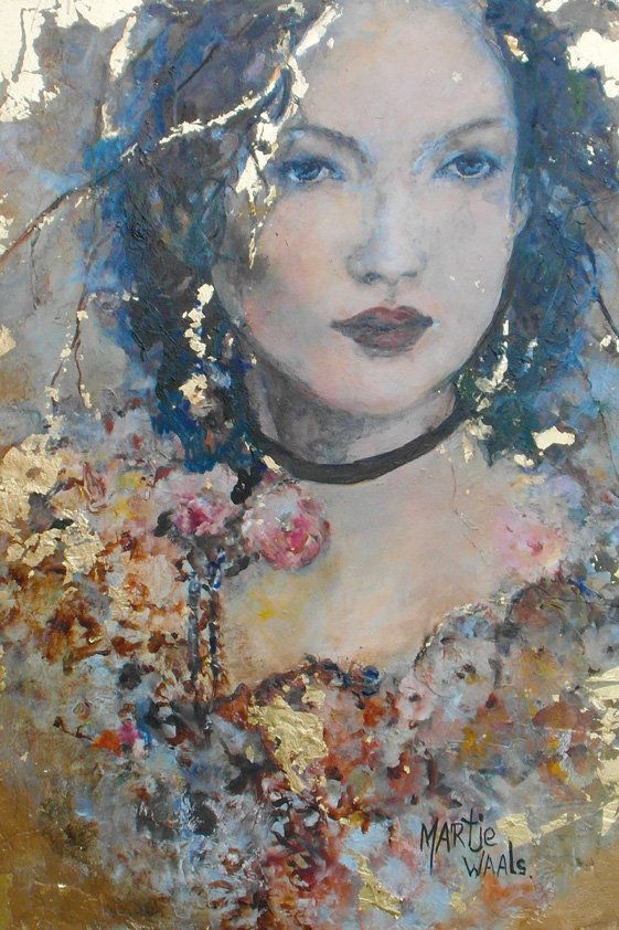 Abstract Woman in Gold Aluart