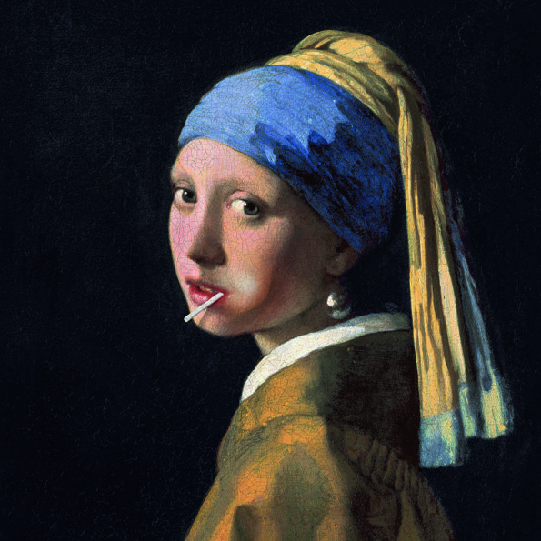 Girl with a Lollypop in het Mouth Aluart