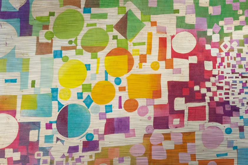 Abstract Multiculti Map Colors Aluart