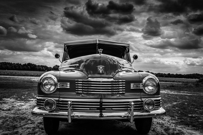 Old-timer front view Aluart