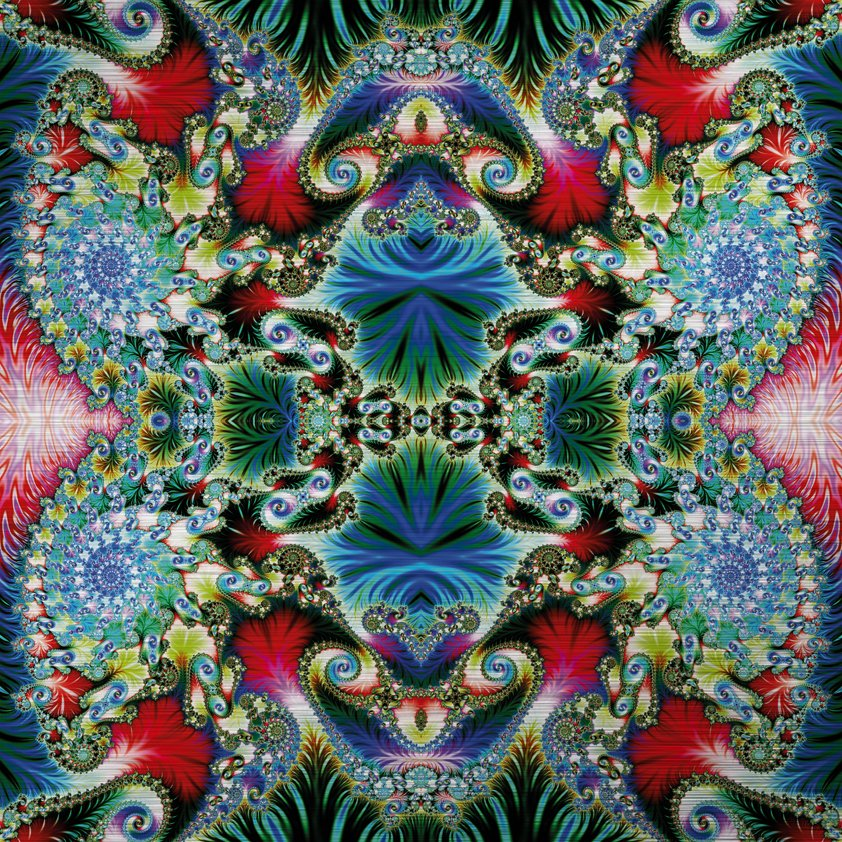 Abstract Multicolored Spiral Pattern Aluart