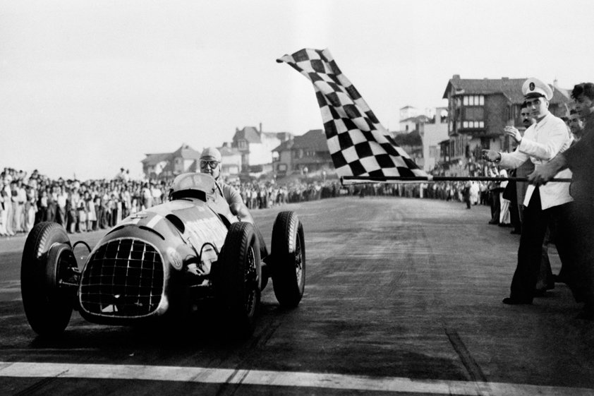Checkered Flag for the Finish in 1950 Aluart