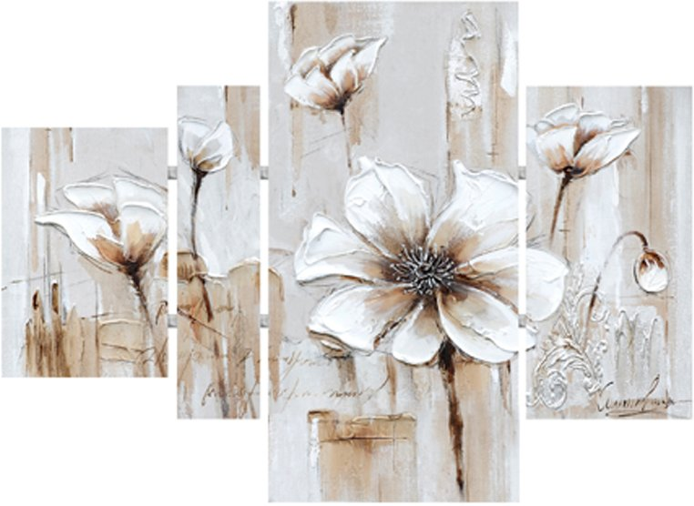 Canvas 4-Panel, Flowers with Tubes