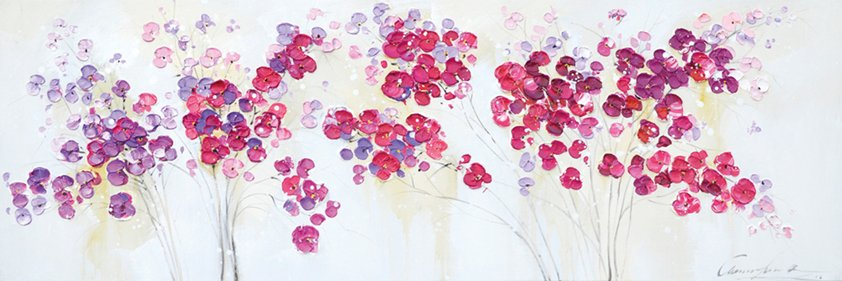 Canvas, Flowers Pink