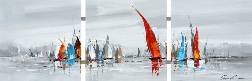 Canvas, Boats with Tubes
