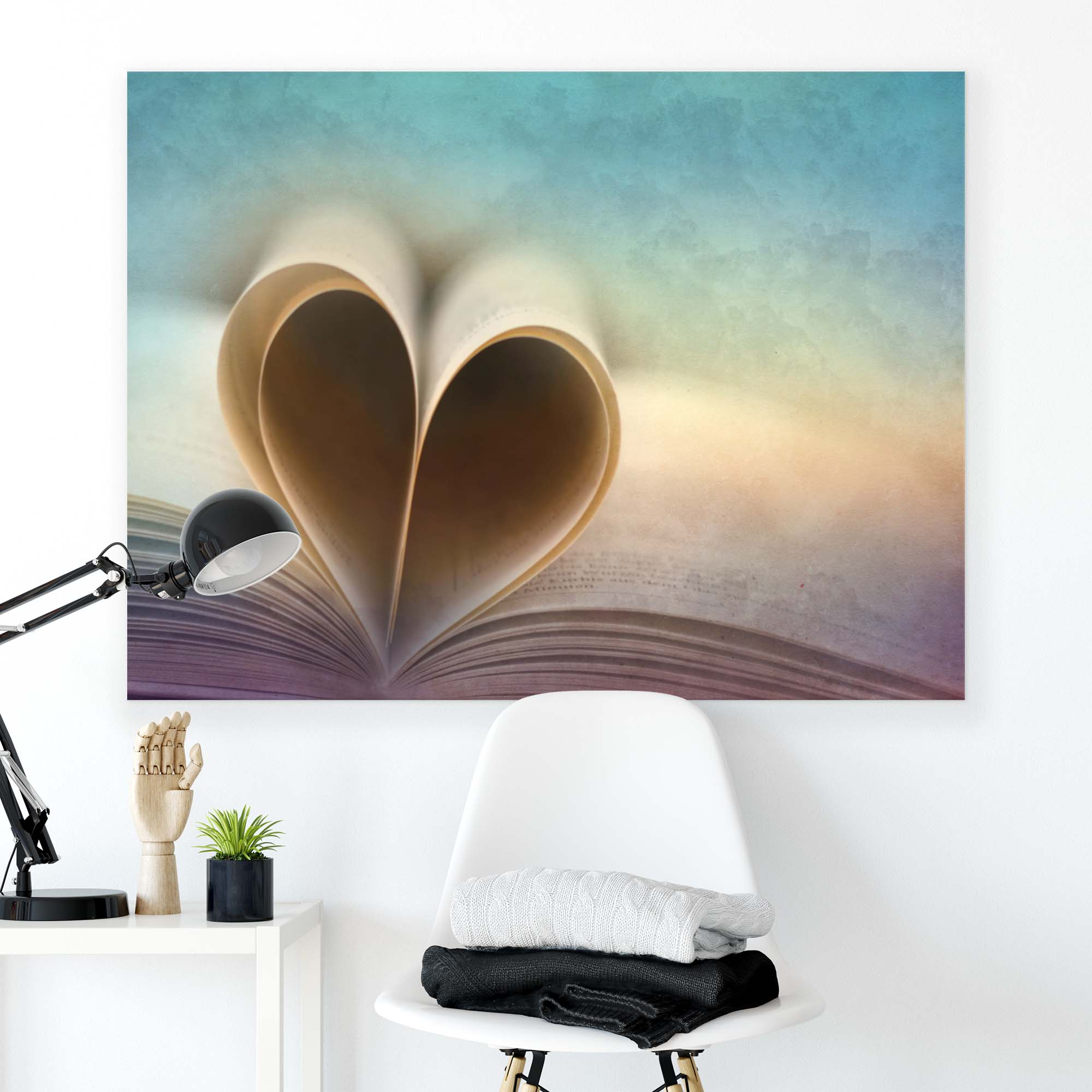 Canvas artwork Book with a Heart