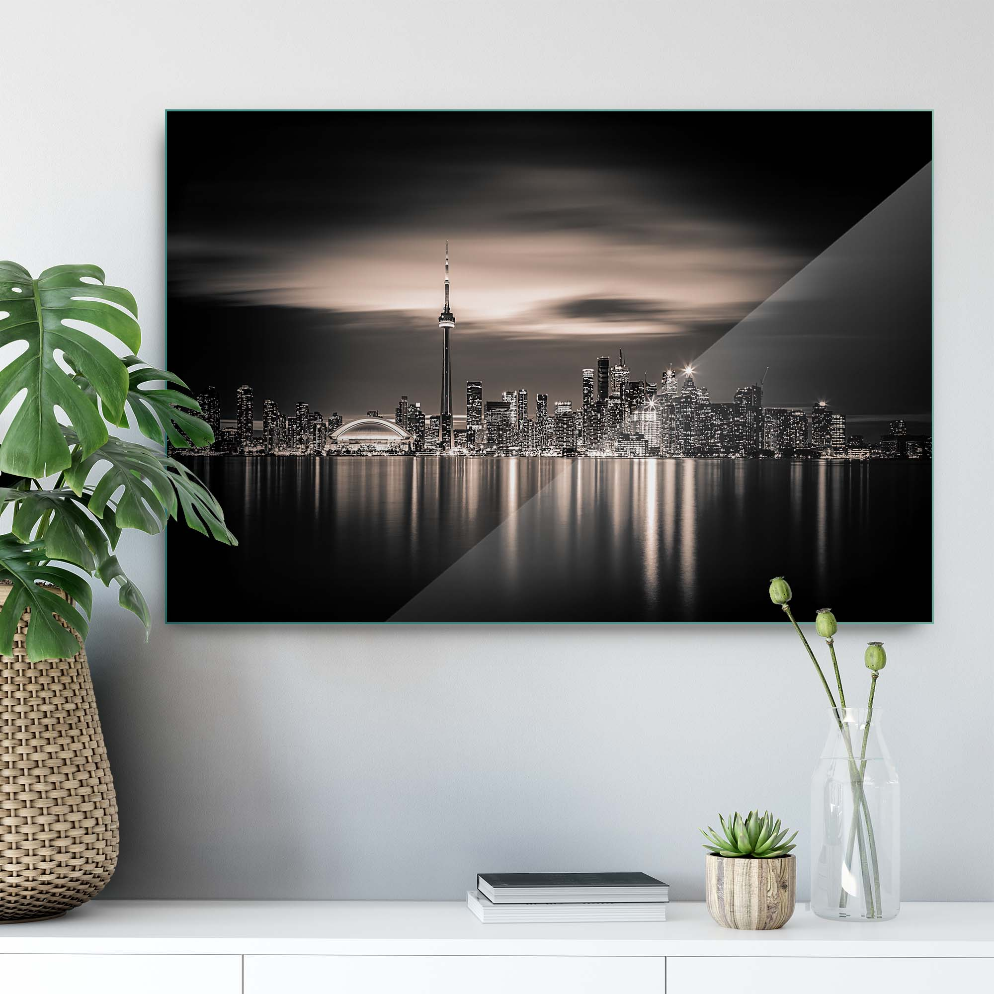 Glass printed City Toronto in Canada