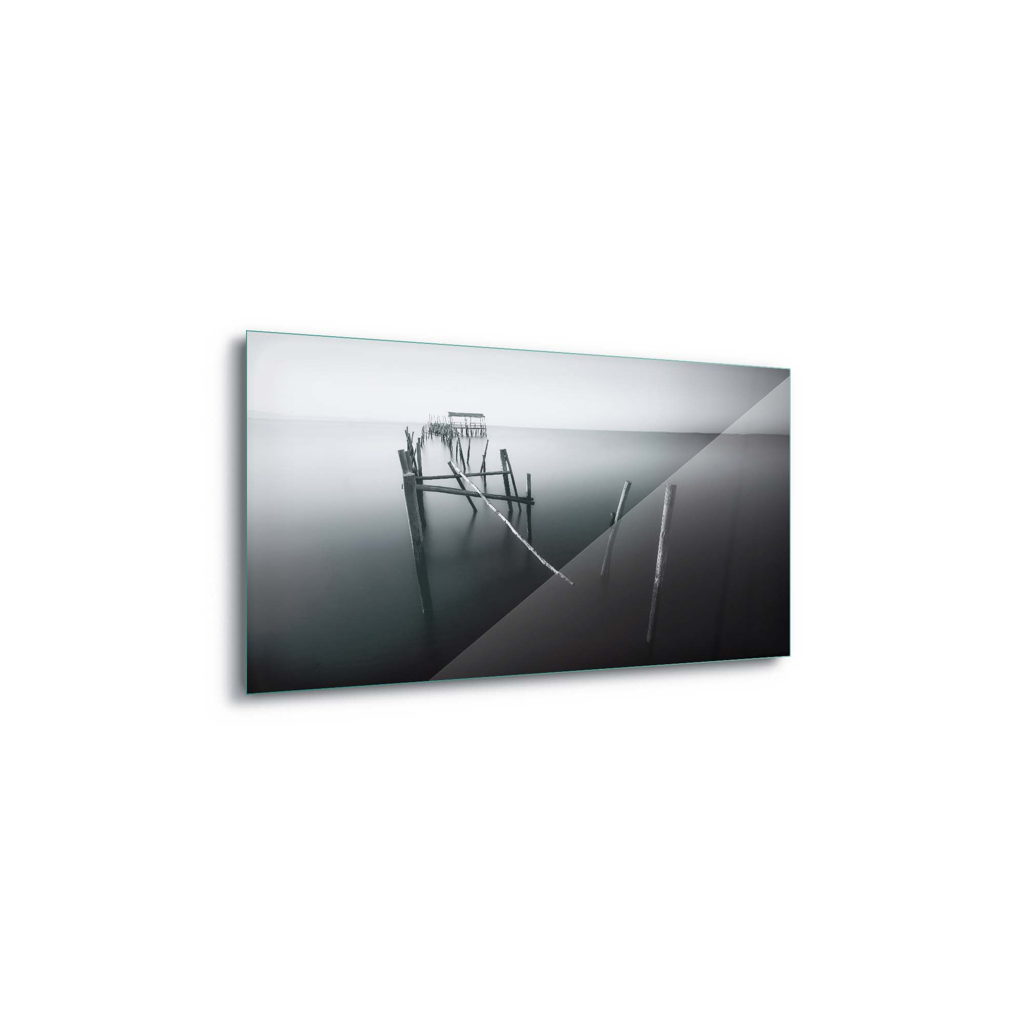 Glass printed Carrasqueira in Black and White