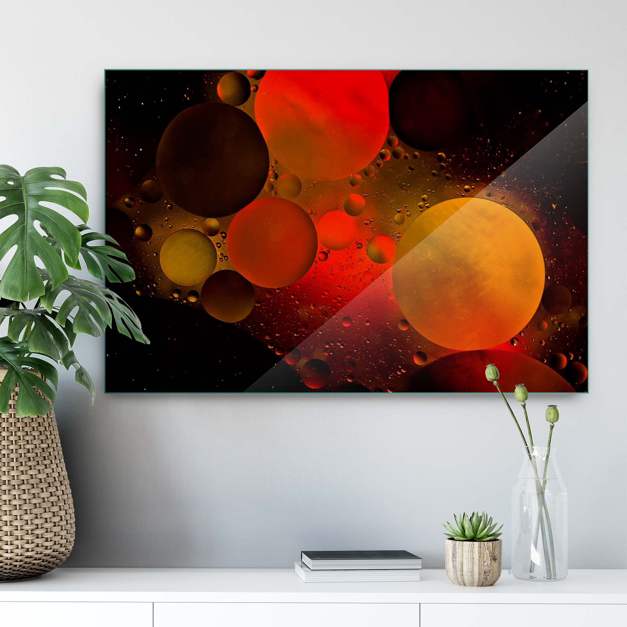 Glass printed Astronomical Painting