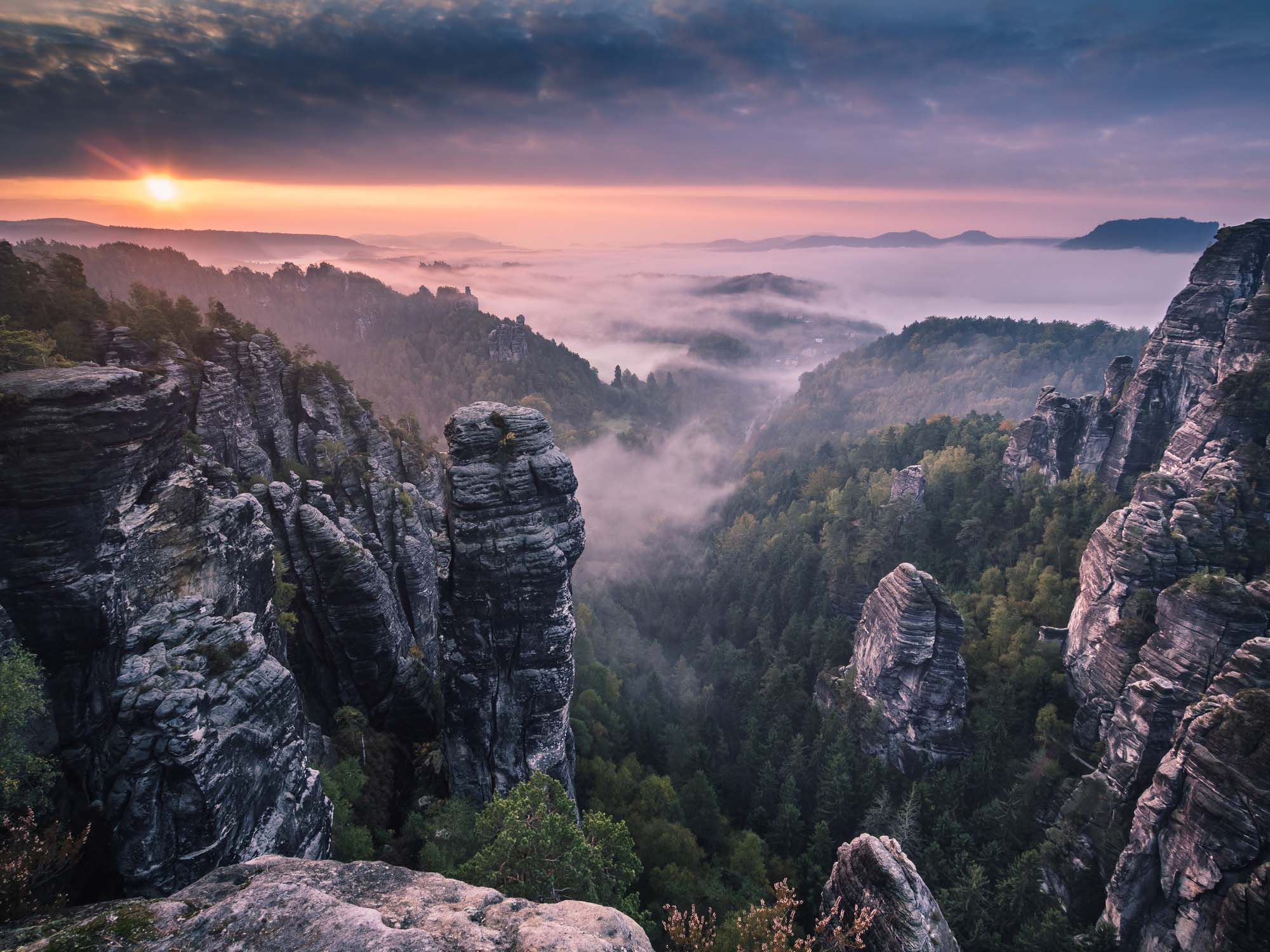 Sunrise on the Rocks by Andreas Wonisch