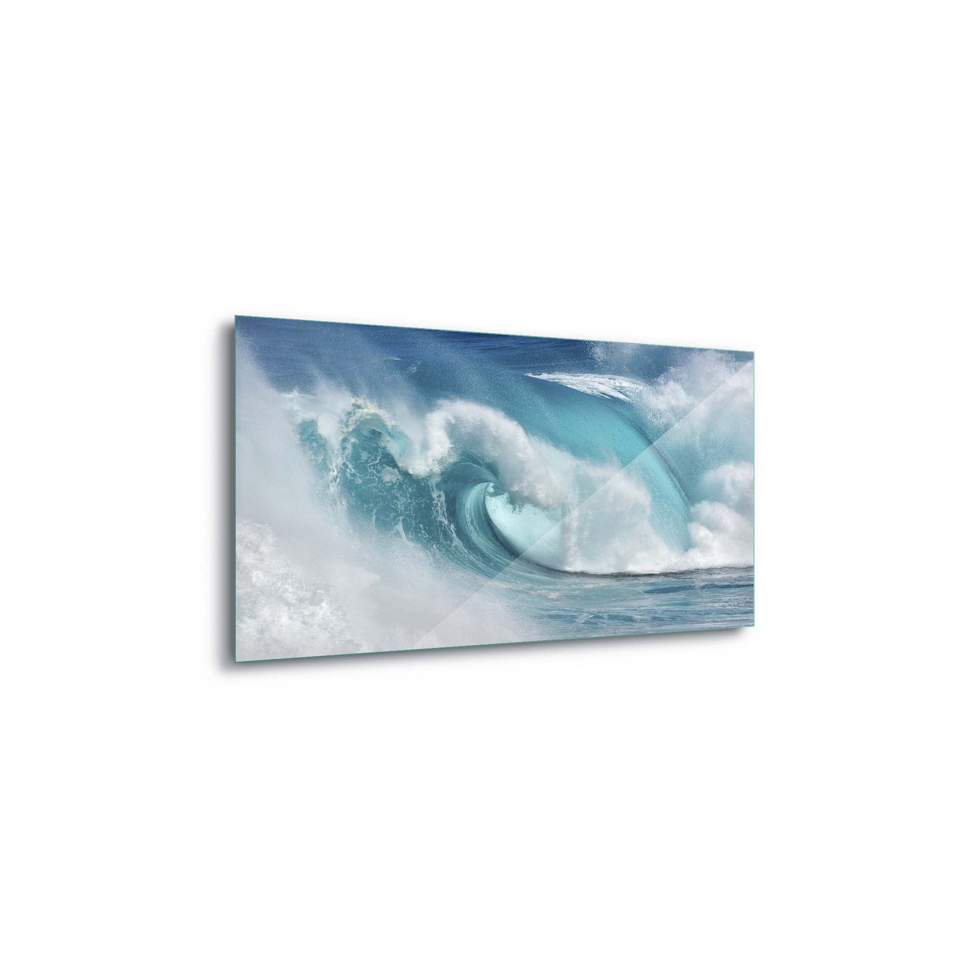 Glass printed Bright Blue Wave