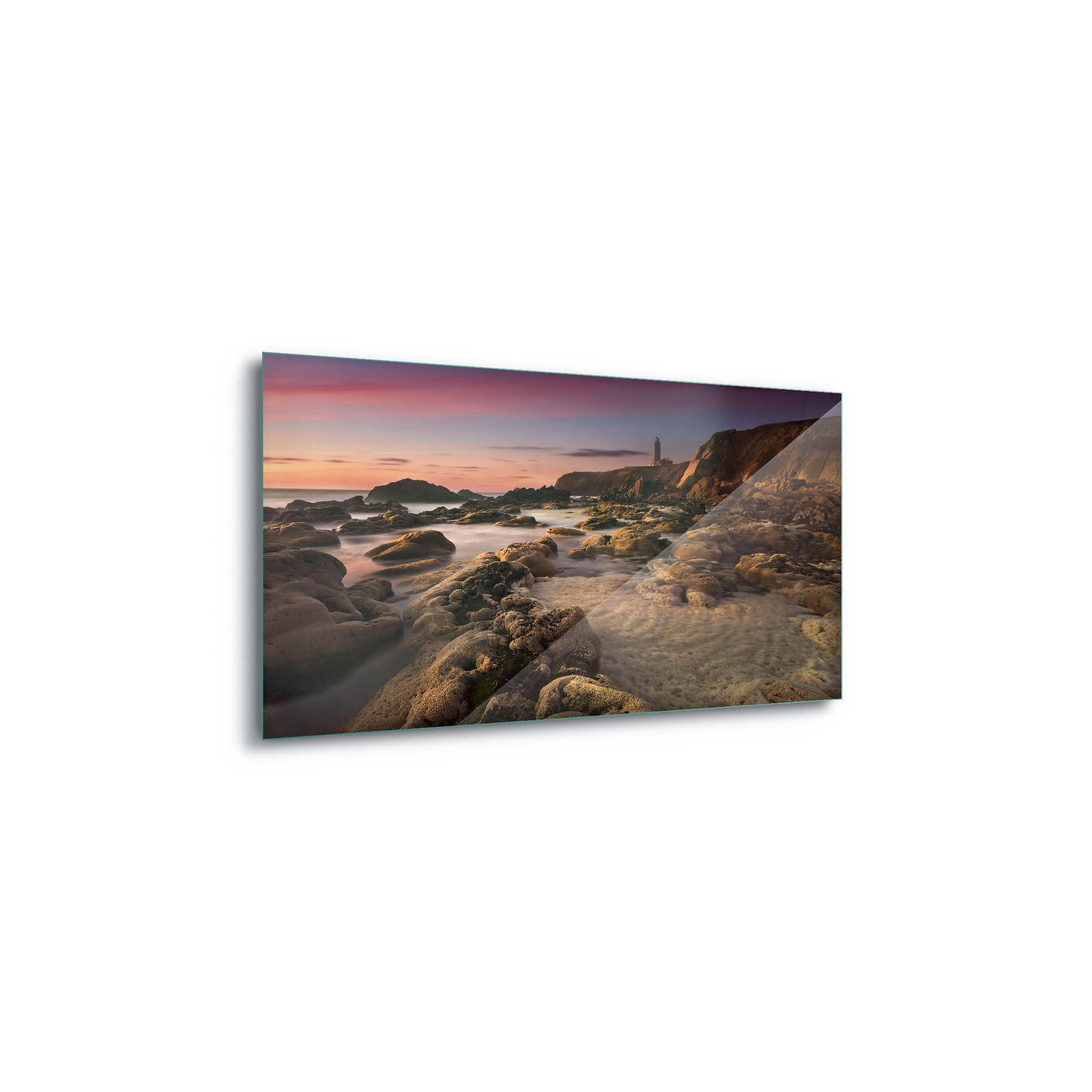 Glass printed Cliffs With Rocks