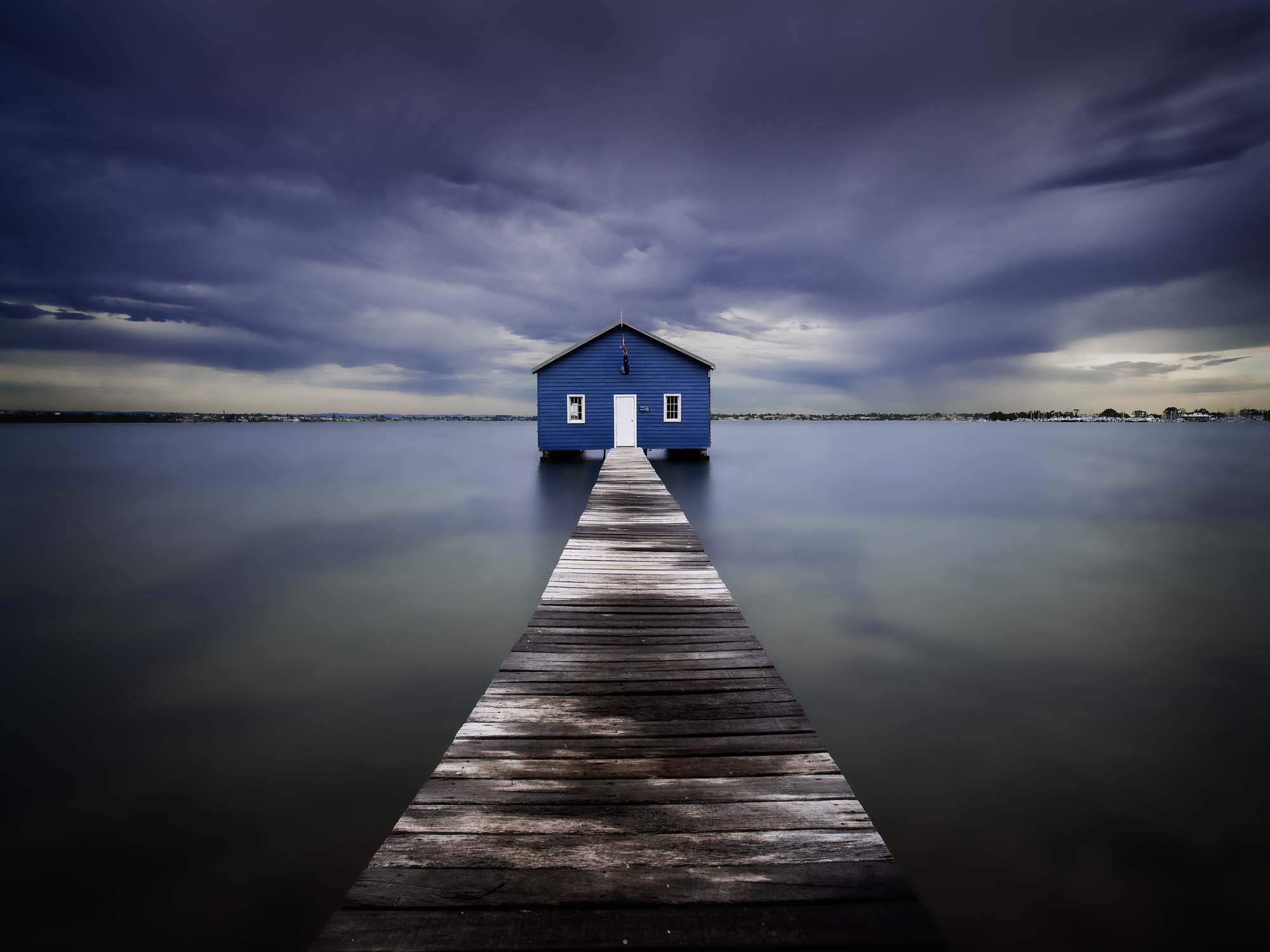 The Blue Boatshed by Leah Kennedy