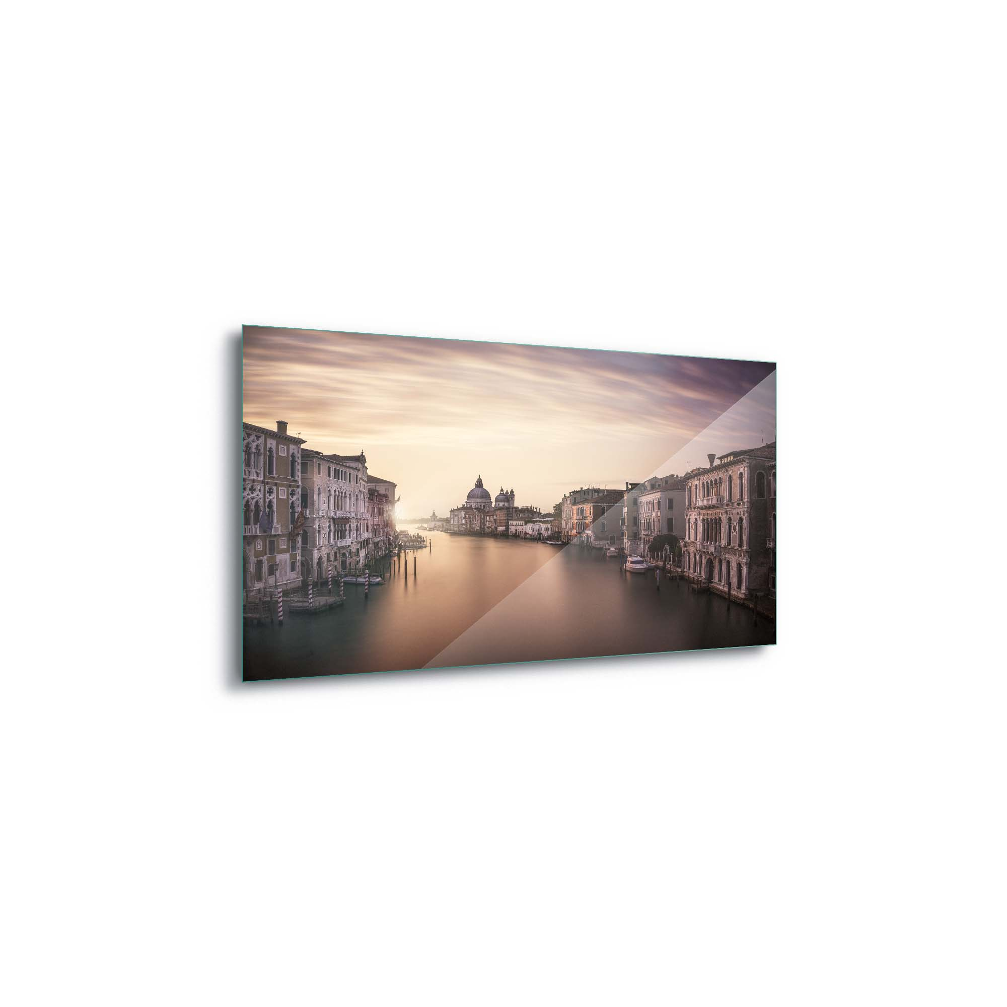 Glass printed Venice City at the Port