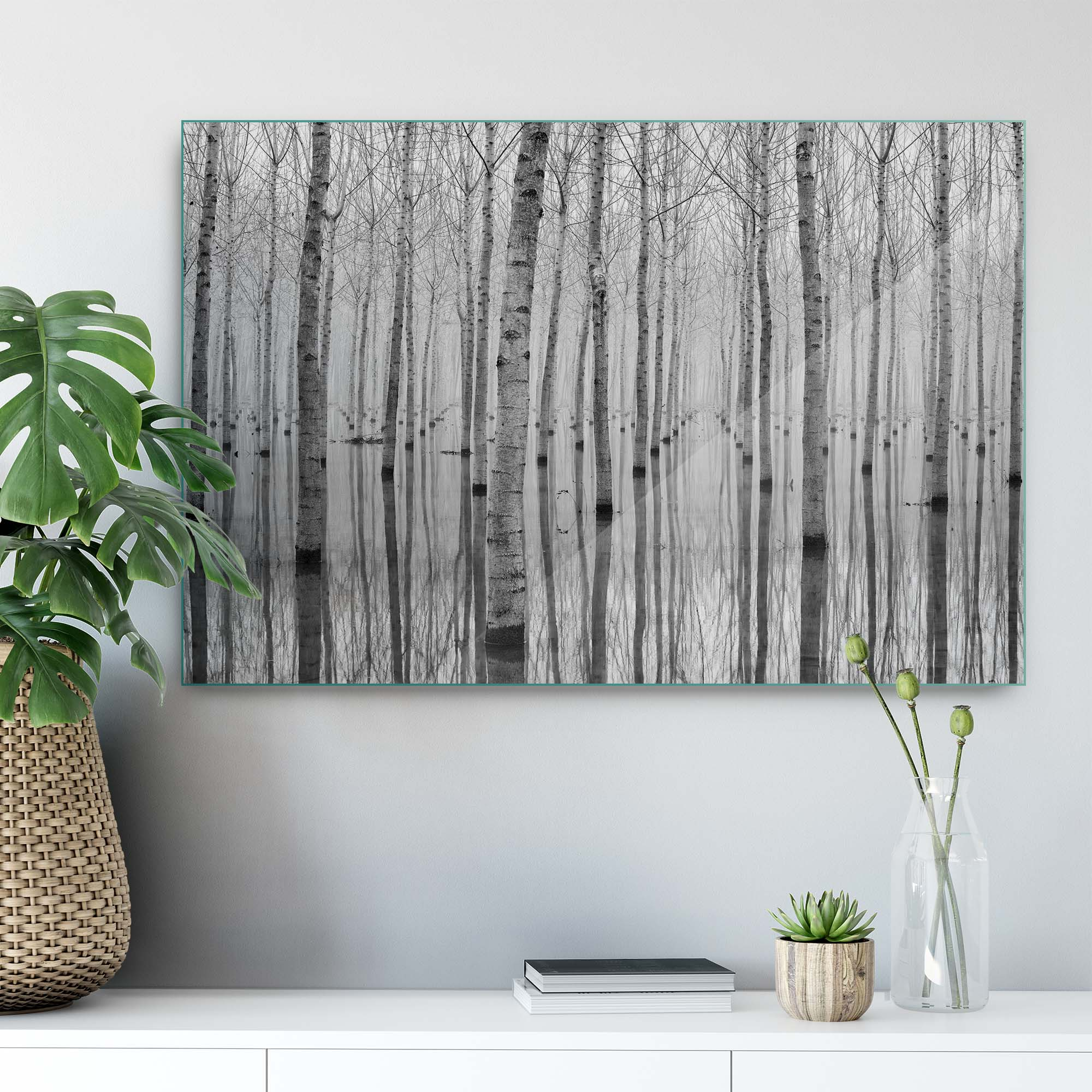 Glass printed Forest in the Winter