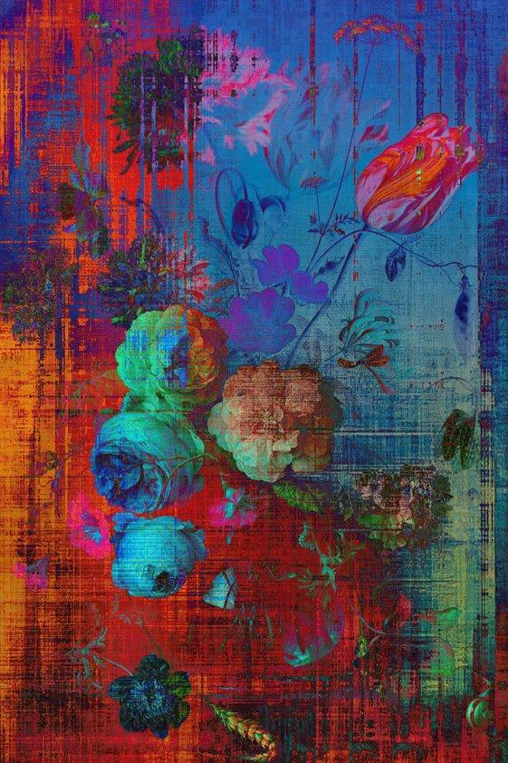 Design Tapijt Bouquet in colors