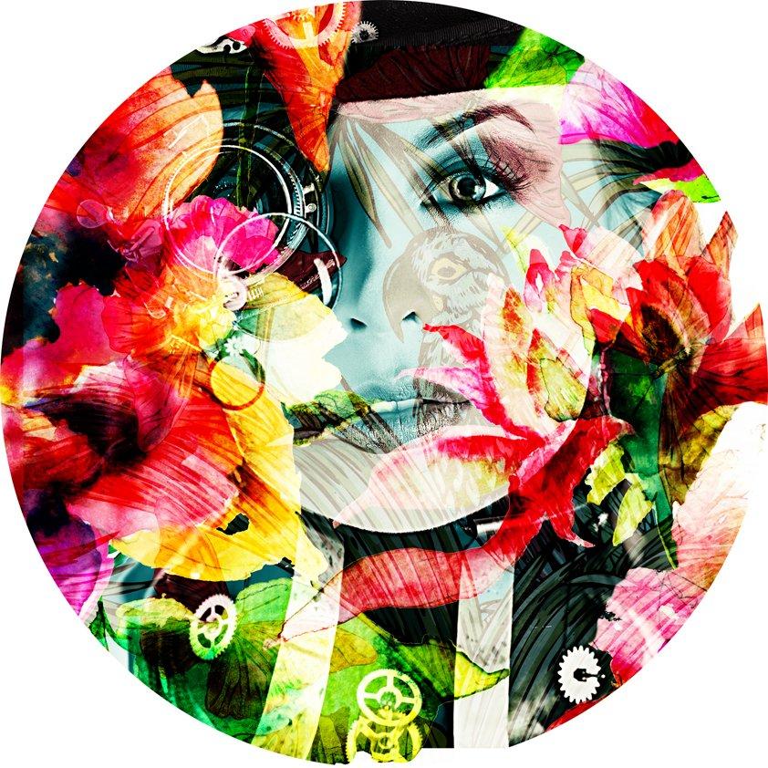 Design Tapijt Woman in Flowers
