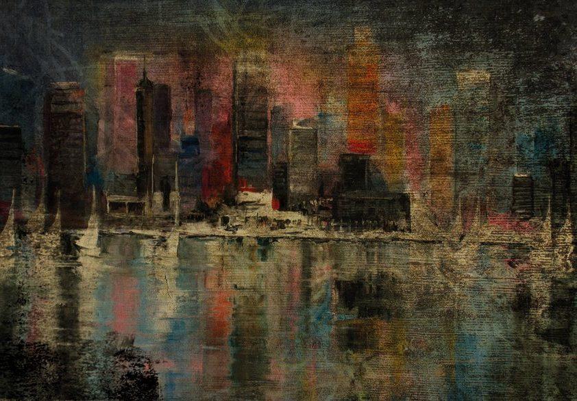 Design Tapijt Abstract Skyline NewYork