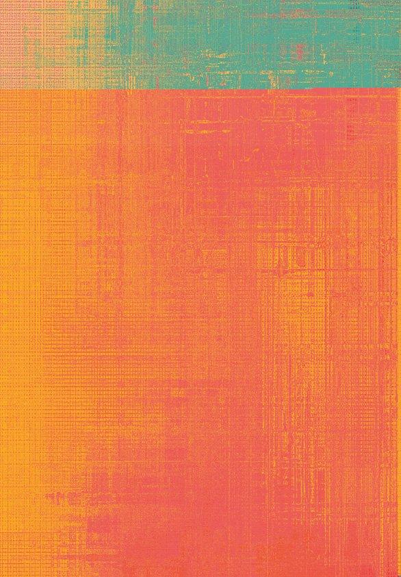 Design Tapijt Orange Coral Detail