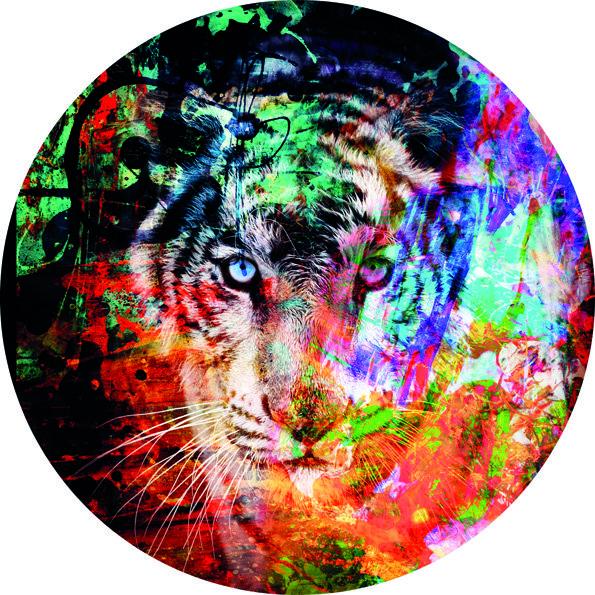 Design Carpet Lion hunting in Color