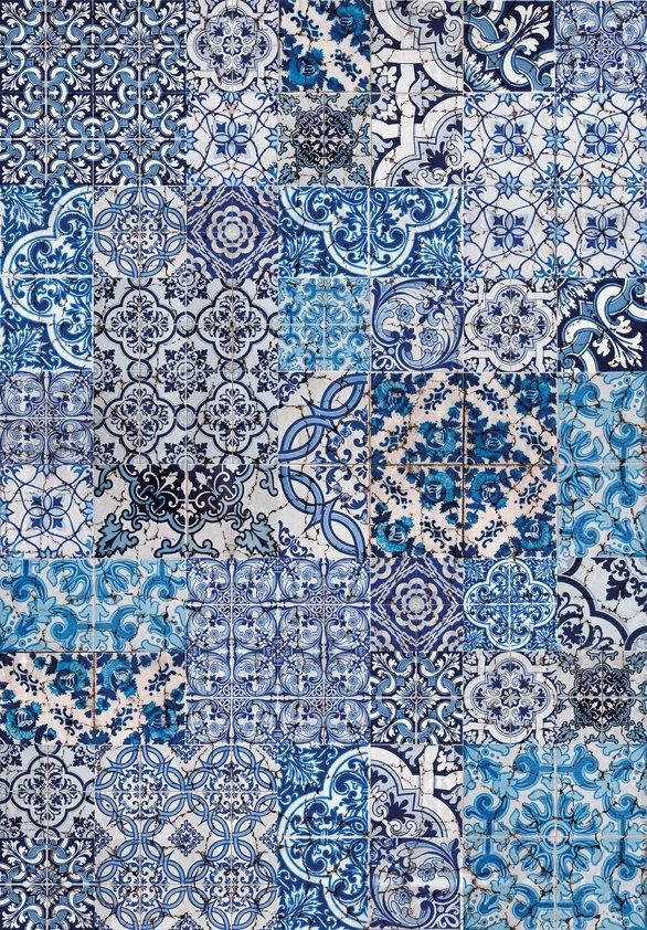 Design Tapijt Blue Santorini