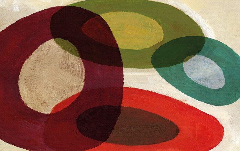 Design Tapijt in colorful Circles