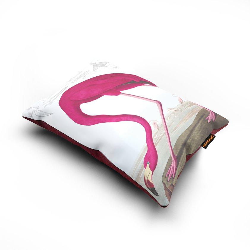 Cushion set/2, American Flamingo - bird