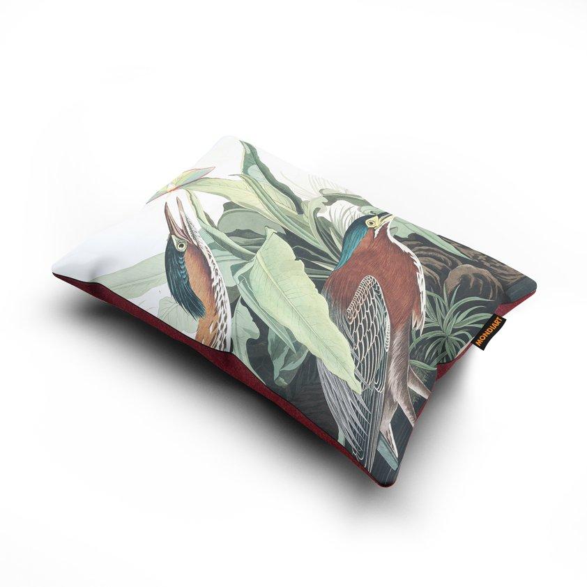 Cushion set/2, Green Heron - bird