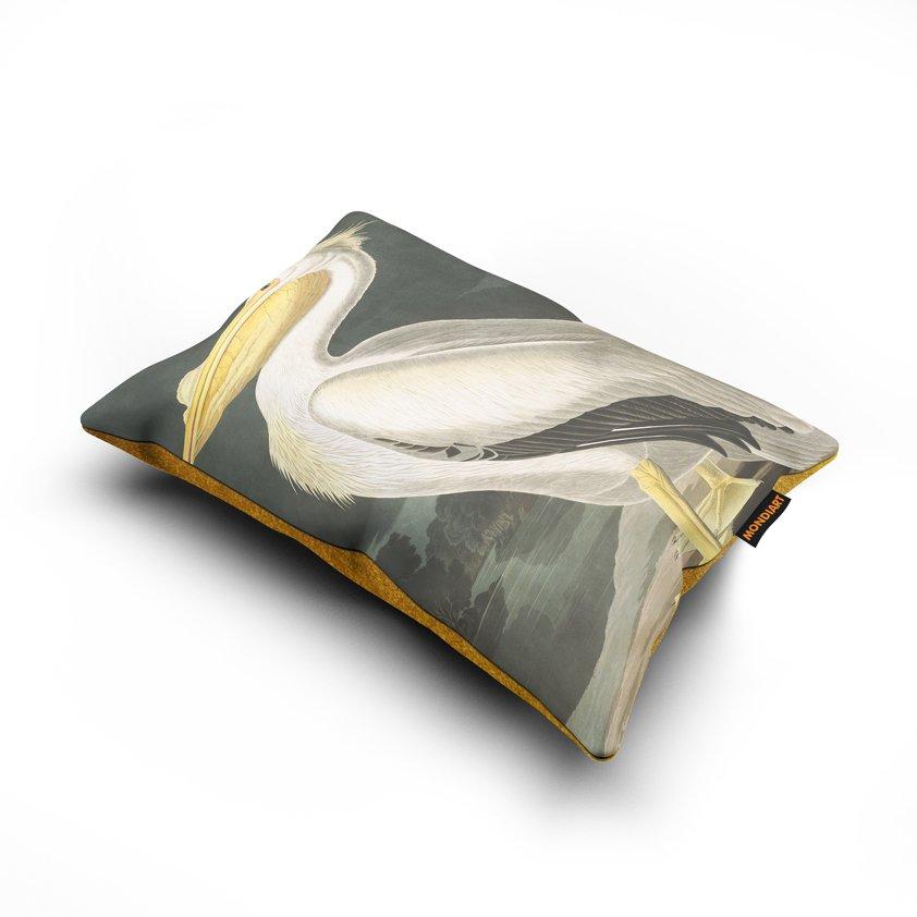 Cushion set/2, White Pelican - bird