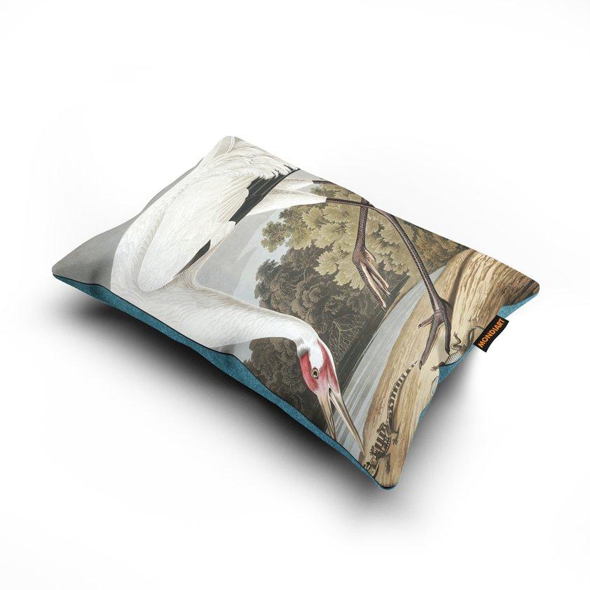 Cushion set/2, Hooping Crane - bird