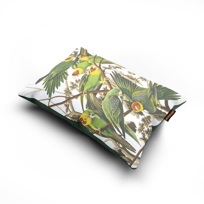 Cushion set/2, Carolina Parrot - bird